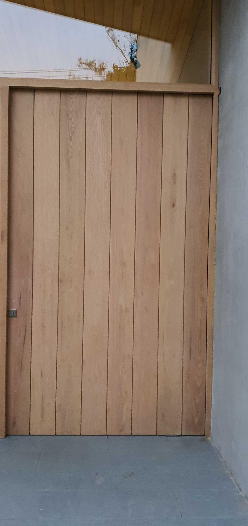 Puerta revestida Roble Americano